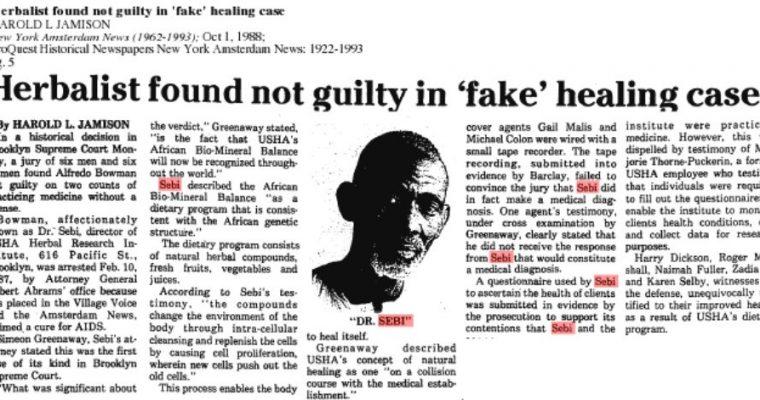 Dr Sebi – On Court Case – Media – Truth & Lies