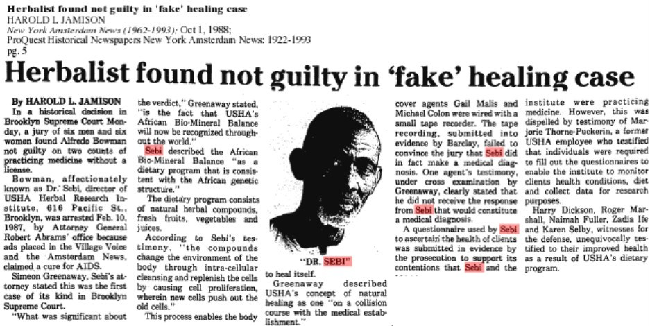 Dr Sebi's New York court case
